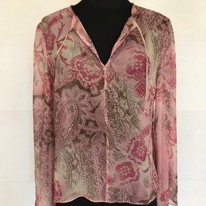 INC International Concepts Silk Tunic, Pink 6P
